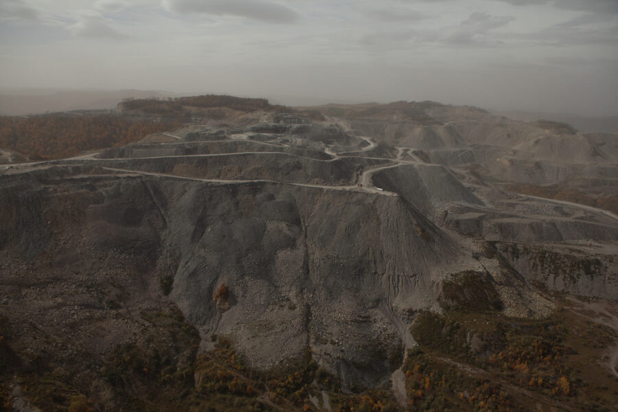 Landscape following mountaintop removal mining, Wise County, Virginia, 2012