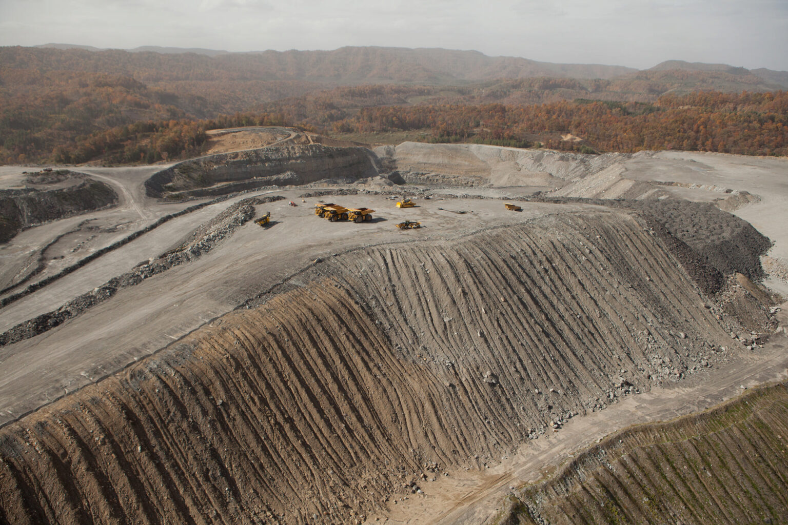 Mountaintop removal coal mining, Wise County, Virginia, 2012