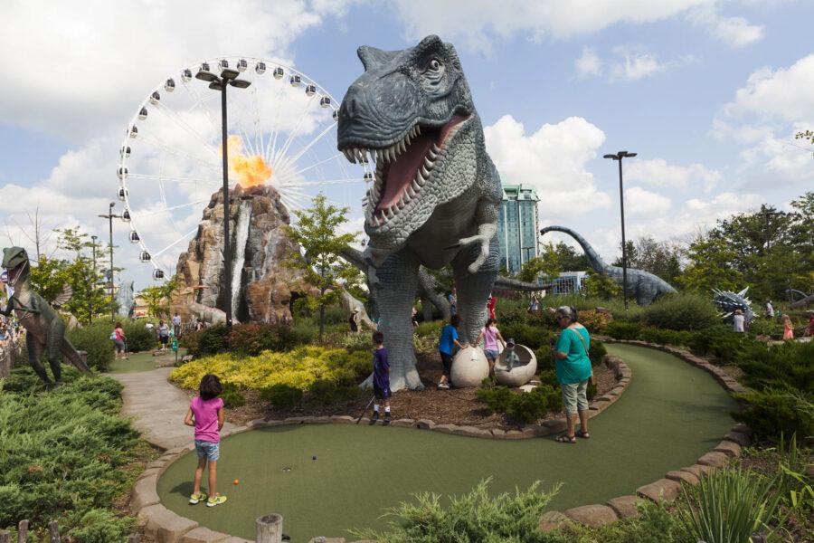 Dinosaur Adventure Park, Clifton Hill, Niagara Falls, Ontario, August 2017