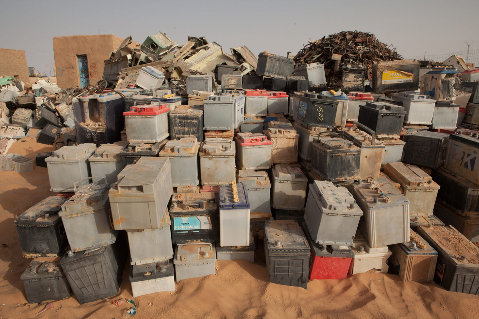 Car battery sales, Laayoune Refugee Camp, Algeria, 2015