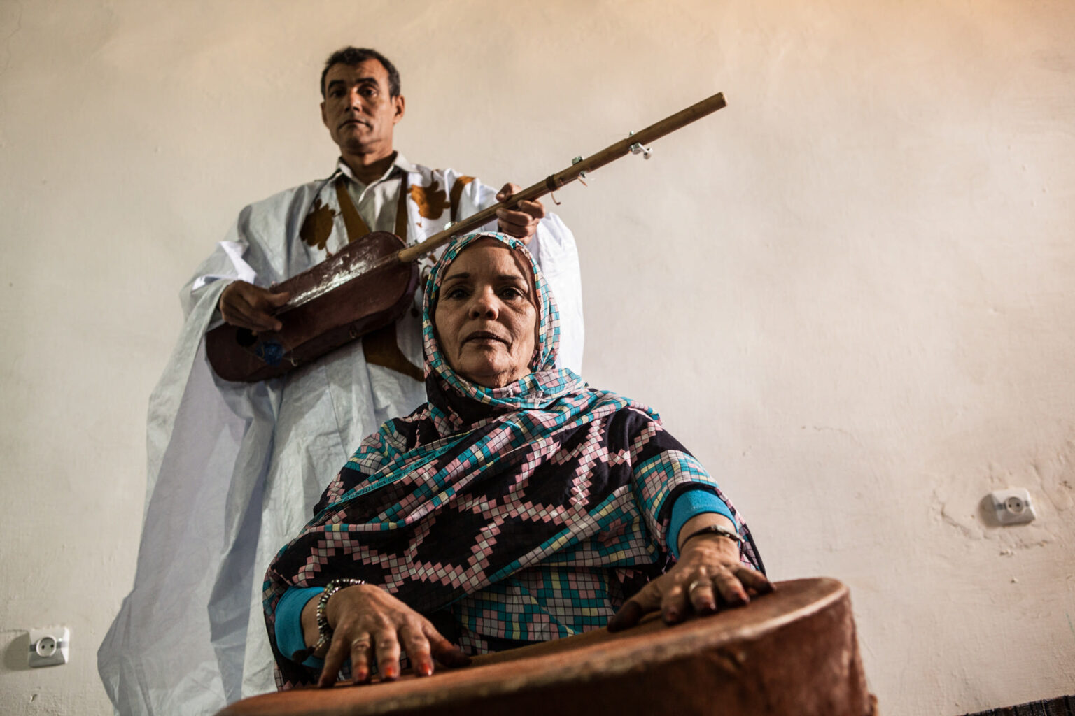 Al-Walid band of musicians, Laayoune Refugee Camp, Algeria, 2015