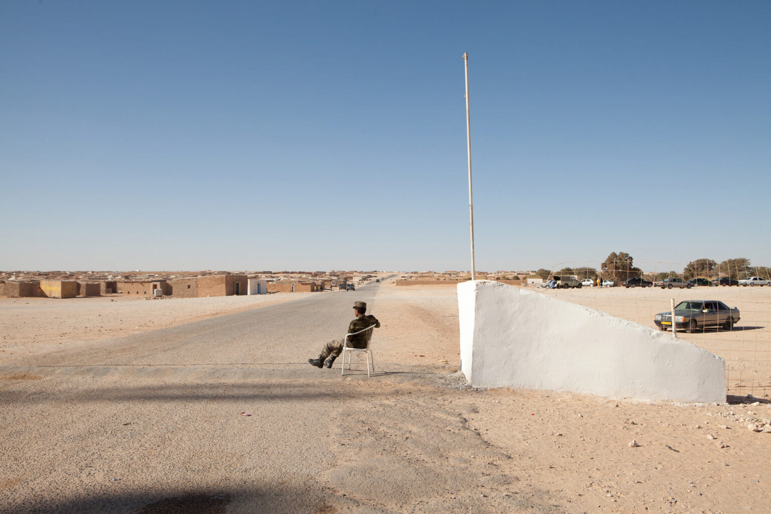 Polisario Guard, Laayoune Refugee Camp entrance, Algeria, 2015