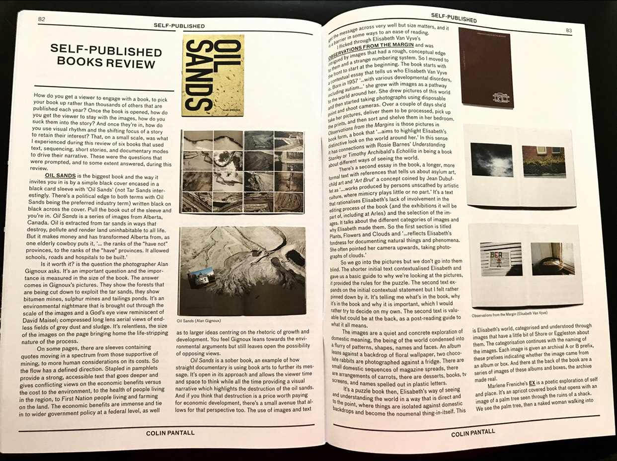 Oil Sands photobook is reviewed by Colin Pantall writing for Source
