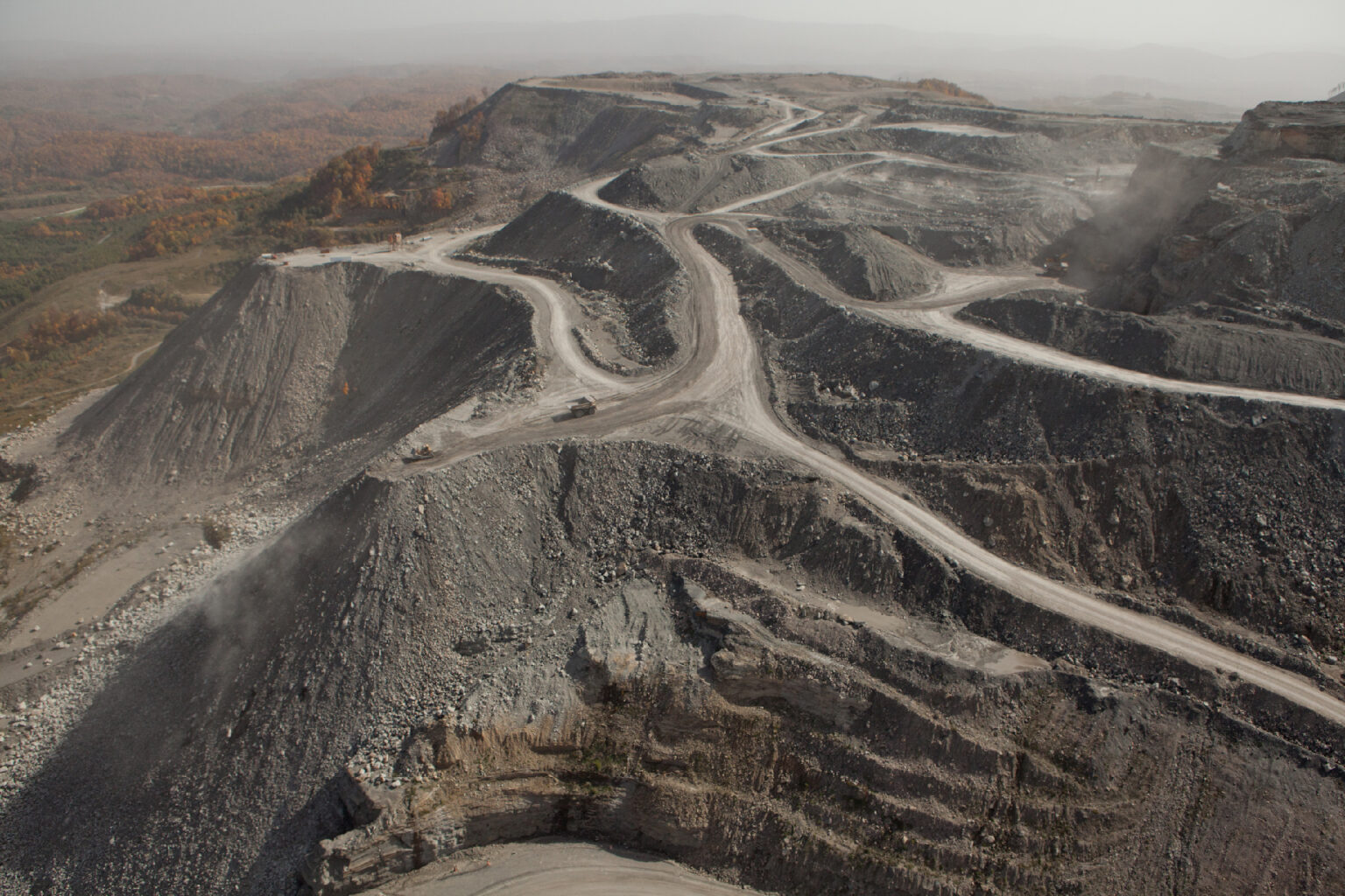 Mountaintop removal mining, Wise County, Virginia, 2012