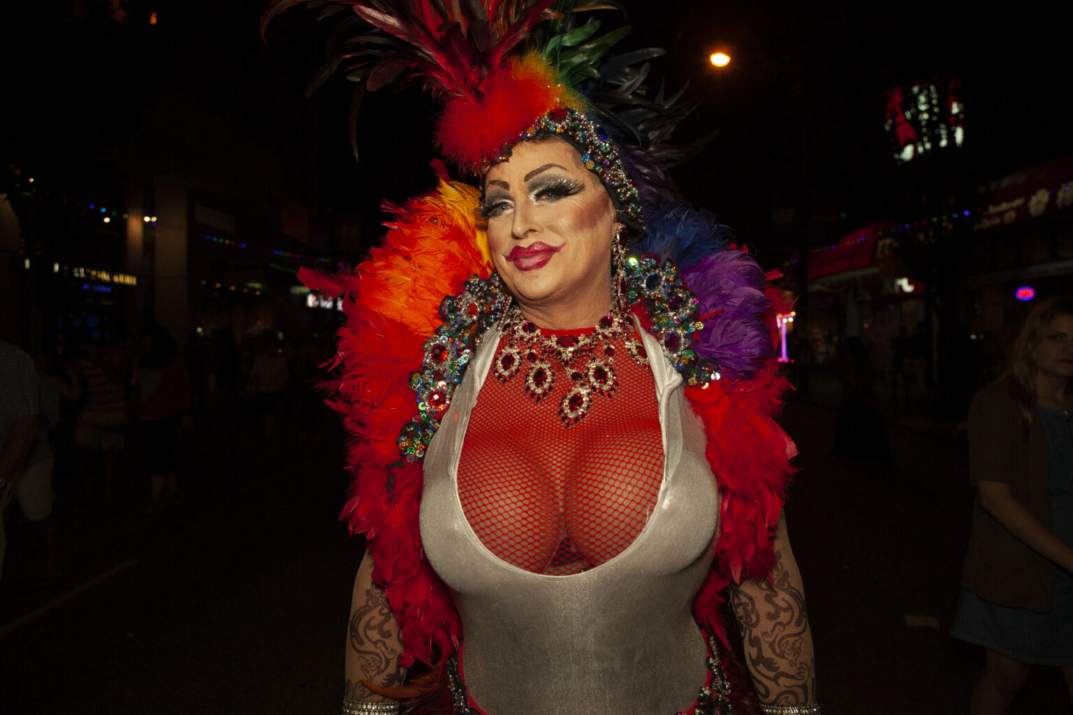 Jewels and feathers, Vancouver Pride, Canada, 2014